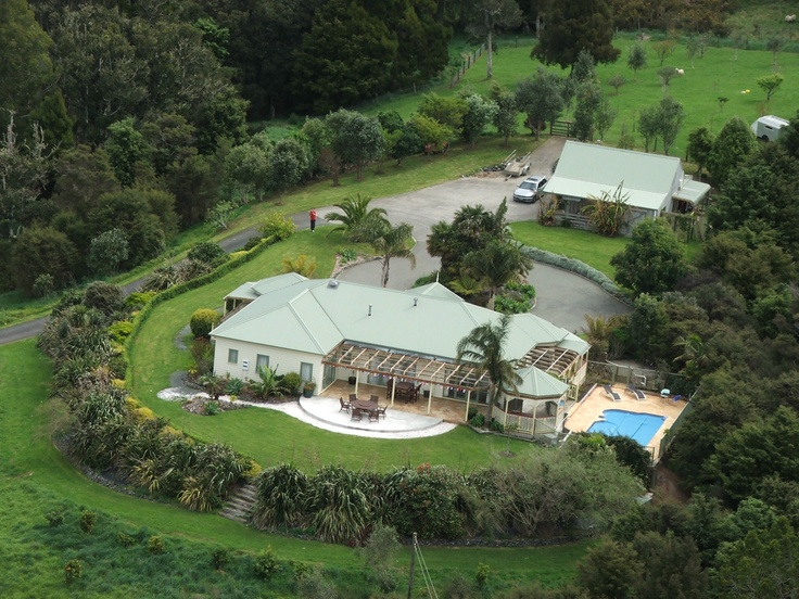 Aerial photo of Matakana Country Lodge taken from helicopter.  #lodge #accommodation #auckland #nz