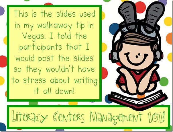 Literacy Center Management/Open House