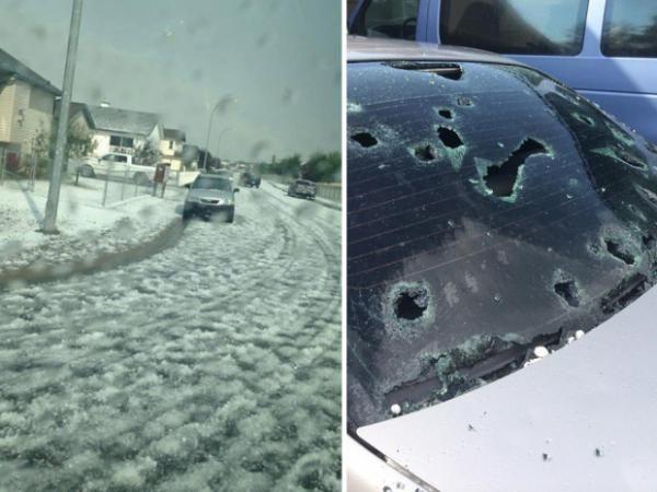 Airdrie alberta hail damage