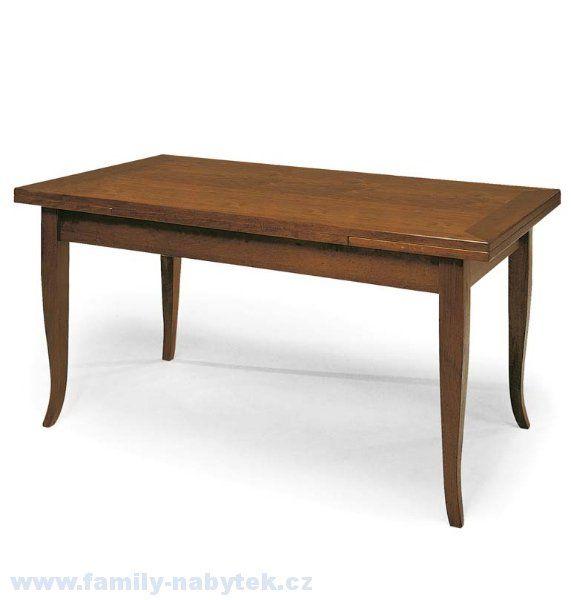 Jídelní dřevěný stůl klasický, rozkládací (lze i bílý !) / další rozměry stolu v náhledu > varianta 120 X 80 X 75