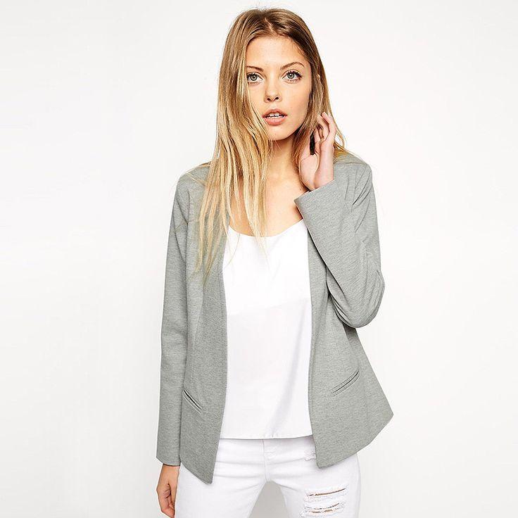 New Fashion Womens Slim Coat Long Sleeve female Outerwear Casual Jackets Coats Blazer For Femme Blazers Feminino Women #Affiliate