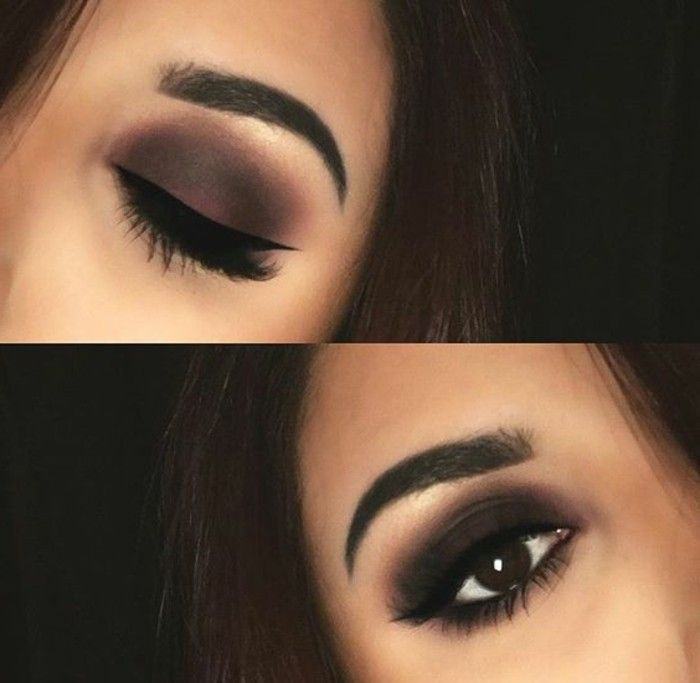 maquillage yeux marrons, smokey eyes marron, comment maquiller les yeux marrons