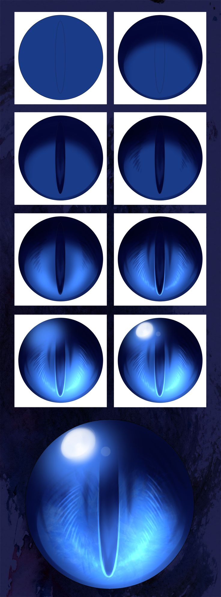 Step by Step Dragon Eye Orb by Dea-89.deviantart.com on @DeviantArt