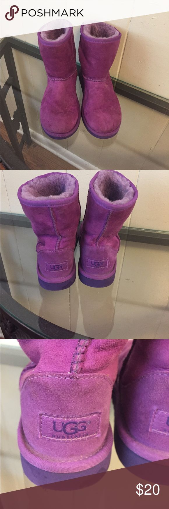 Girls purple UGGs Girls purple UGGs in great condition UGG Shoes Boots