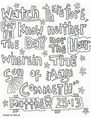 matthew 25 coloring pages - photo#38