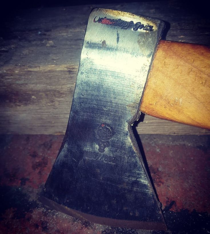 """Resuming the axe series.  I have restored this 600g """"Ochsenkopf"""" hatchet a year ago. It's the smallest hatchet I use here.  #homestead  #homesteading  #saw  #diy  #woodworking  #volvo  #howto  #forging  #welding  #artisan  #metalworking  #handmade  #handcraft  #tools  #knife  #survival  #prepper  #repair  #make  #crafts  #build  #victorinox  #mechanic  #chainsaw  #blacksmith  #axe  #wood  #barn  #workshop  #garage"""