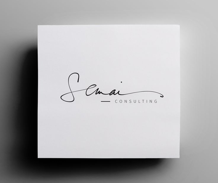 Appreciate simple femininity of signature handwritten copy  Semai Consulting Handwritten Logo Option