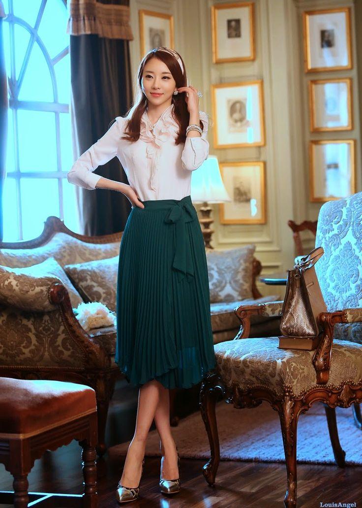 1722 best faldas images on pinterest feminine fashion - Modelos de faldas de moda ...