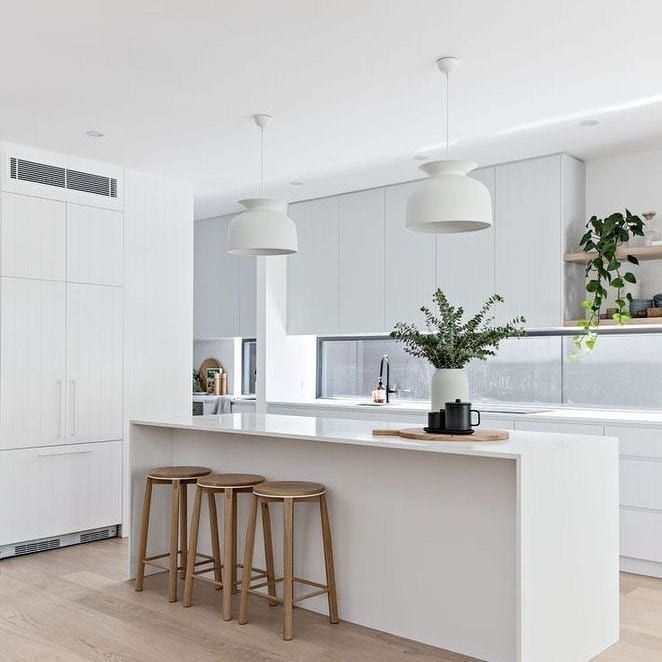 Just Another First Home Build S Instagram Profile Post Love The Simplicity That The Plants Knick Knacks In 2020 White Modern Kitchen Home Decor Kitchen Home Kitchens