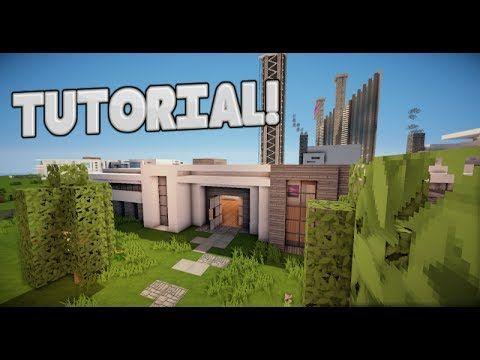 MINECRAFT: Como hacer una casa moderna! - Tutorial de Construccion - YouTube