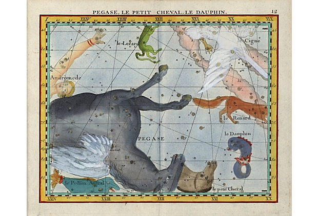 Pegasus Constellation Diagram, 1776 on OneKingsLane.com