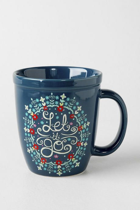 Get in the holiday spirit with the Let it Go Mug! This mug is perfect for drinking coffee or tea and cuddling up by the fire.