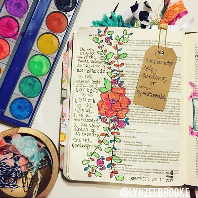 Bible Journaling by @lynzeebrooke | Hebrews 4:12