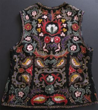 Samarkand chain stitch embroidery womens vest.