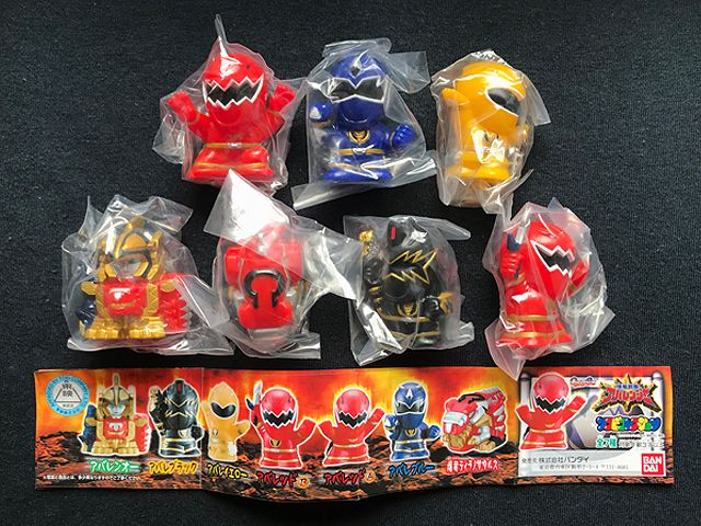 BANDAI Power Rangers Kyuranger Mini Pla 03 Ryuteioh Complete set of 5