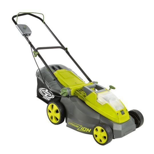 Sun Joe 40V Cordless 16-Inch Lawn Mower w/ Brushless Motor - Factory Refurbished #ION16LM-RM