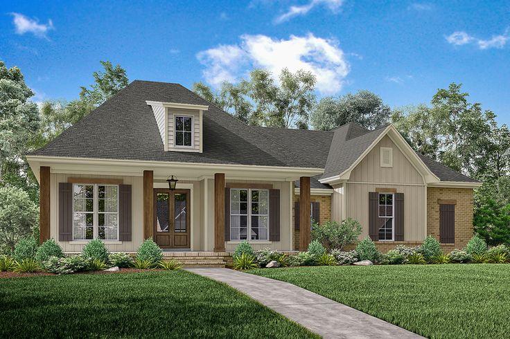 European Style House Plan - 3 Beds 2 Baths 1900 Sq/Ft Plan #430-144 Exterior - Front Elevation - Houseplans.com