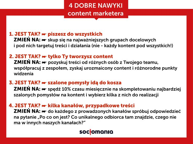 #SocjoTips 4 dobre praktyki content marketera NAWYKI, które warto w sobie wyrobić przy pracy!