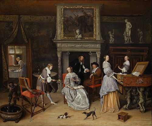 Jan Steen - Fantasy Interior with Jan Steen and the Family of Gerrit Schouten | Flickr - Photo Sharing!