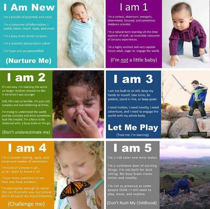 This is a great poster that touches base on exact things a child does during different stages in their childhood.