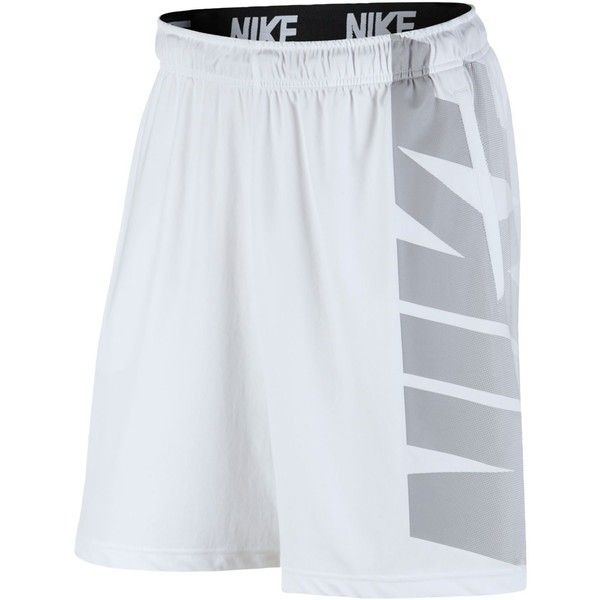 Nike Men's Dry Logo Training Shorts ($40) ❤ liked on Polyvore featuring men's fashion, men's clothing, men's activewear, men's activewear shorts, mens activewear shorts and mens activewear