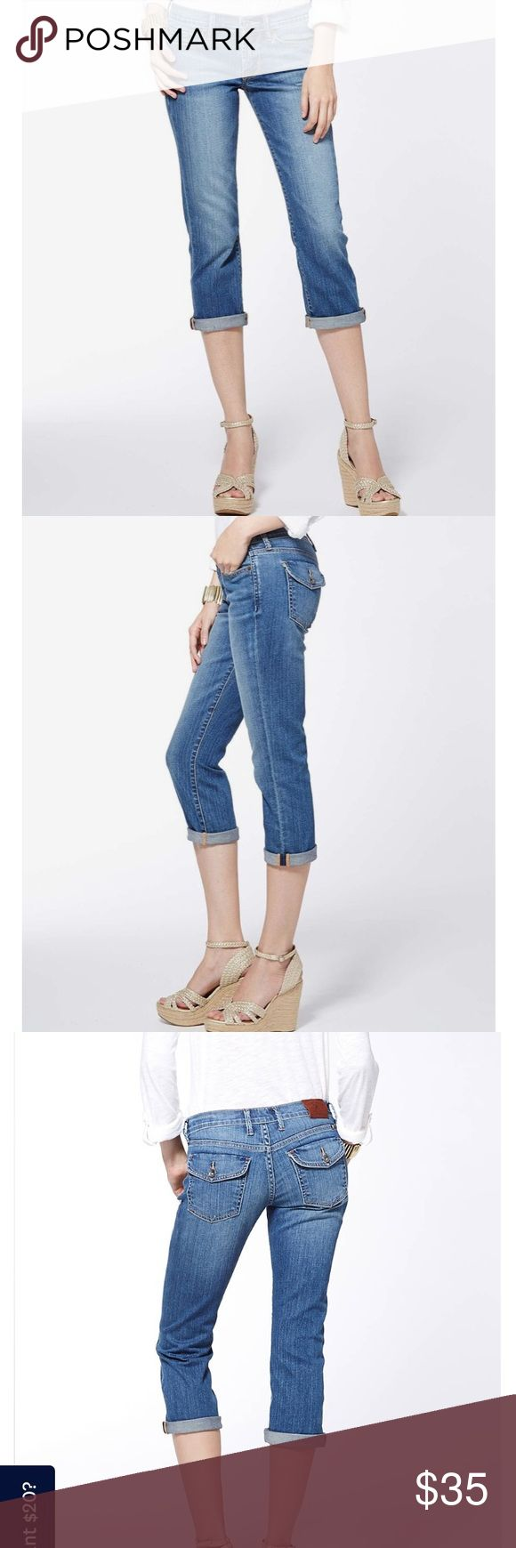 Lucky Brand sweet'n straight crop jeans Cut crop style Lucky Brand jeans,  the button pocket s and the classic lucky you fly. They look perfect rolled up and a shirt tucked in! Lucky Brand Jeans Ankle & Cropped