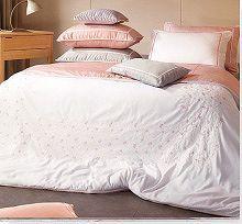 大人用韓国高級寝具・オーダーメイド寝具・夢市場本店 シングル・ダブル・キングサイズの他特殊サイズもOK!花の刺繍入り可愛い高級布団カバージョエル・ピンク