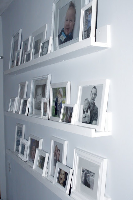 Gallery shelves....I want this in my bedroom in black.