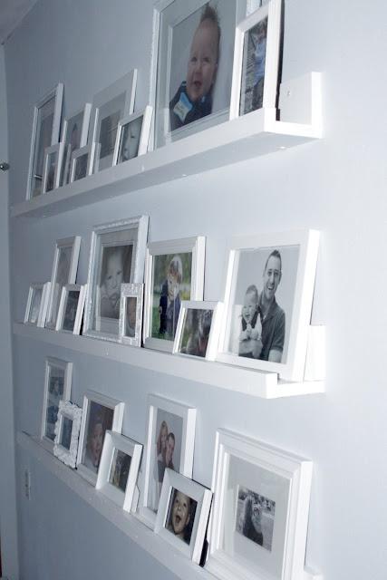 Gallery shelves.