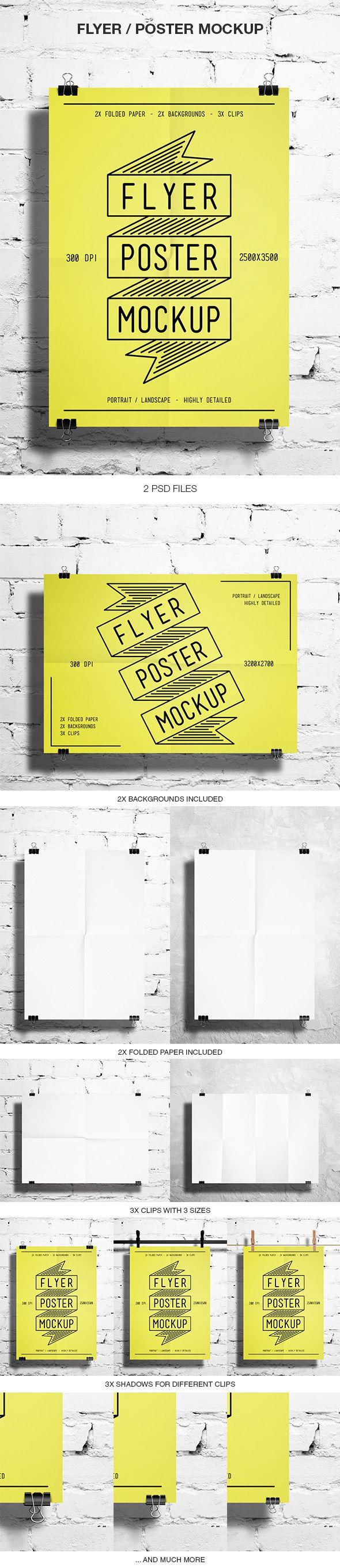 Flyer / Poster Maquette par BlueMonkeyLab, via Behance