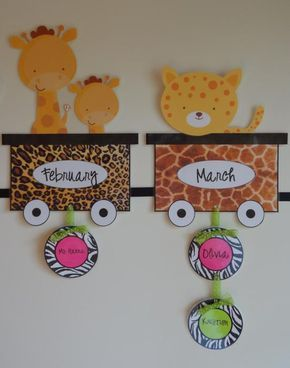 Jungle and Safari Themed Birthday Bulletin Board Idea