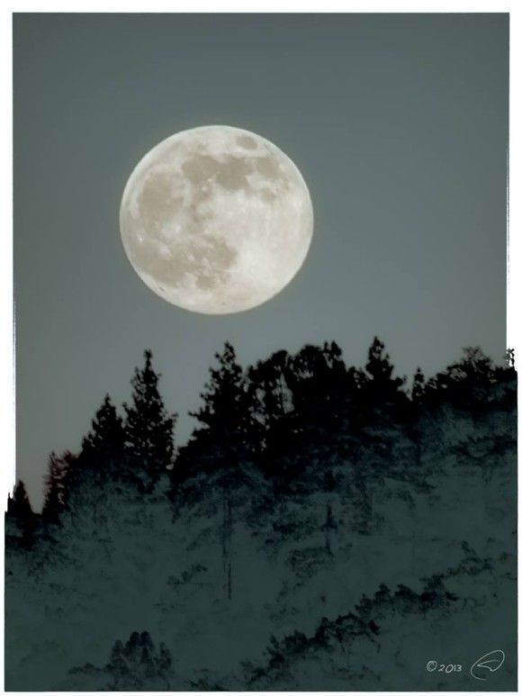 """The Perigee Full Moon rising over Oakhurst, CA last night."" Photo credit: Steve Montalto"