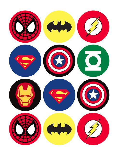 circulos de super heroes