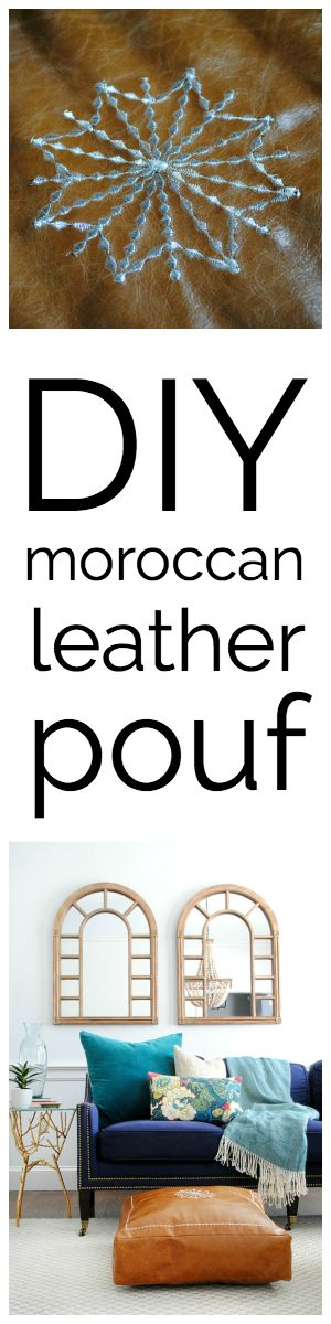 17 Best ideas about Leather Pouf on Pinterest Floor pouf, Leather poof and Mid century living room