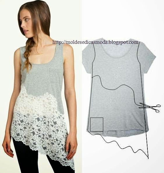 Recycler un tee-shirt en tunique