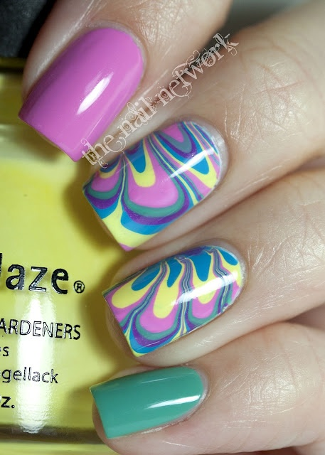 Spring Water Marble from Chelsea (The Nail Network)!