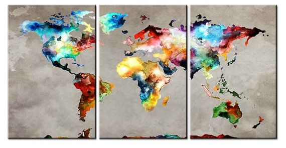 Hey, I found this really awesome Etsy listing at https://www.etsy.com/listing/250384716/amazing-world-map-3-panel-canvas-wall