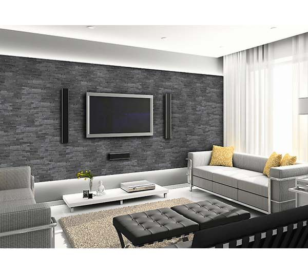 stone wall tile, tv