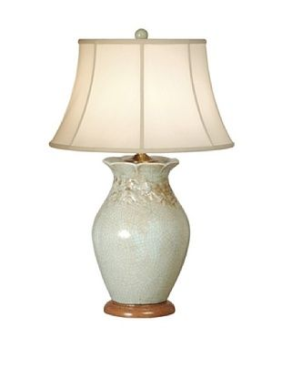 68% OFF Emissary Ceramic Vintage Rose Vase Lamp (Foam Blue)