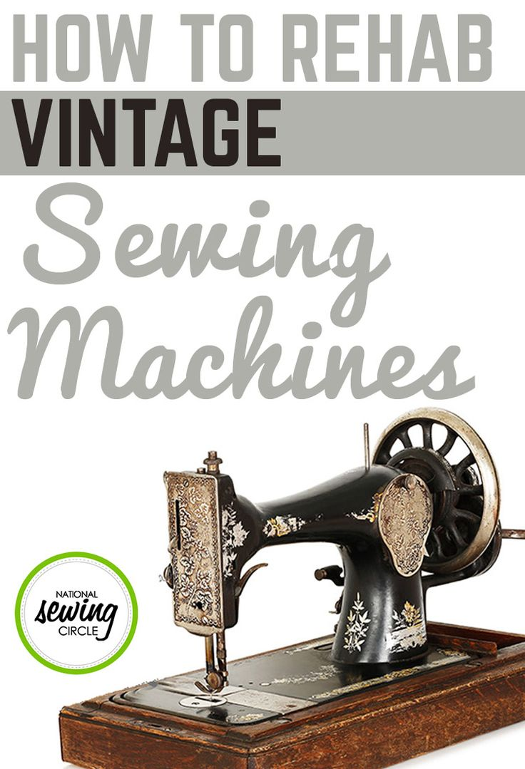 You see them at flea markets, garage sales, and estate auctions: beautiful old sewing machines that you'd love to use on your modern sewing projects. Most of them are shining black with gold decorations in swirls or art deco designs. If you find a great deal on a vintage sewing machine, it can serve as more than just a great decor item in your sewing room. With some careful TLC, you can bring most of these old machines back to life, turning them into machines that you'll rely on for years.
