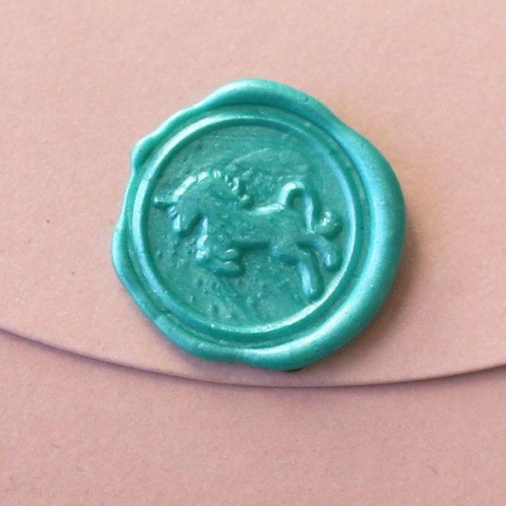 Unicorn Wax Seal Stamp/ wedding invitation seals/fairy creature envelo – DokkiDesign