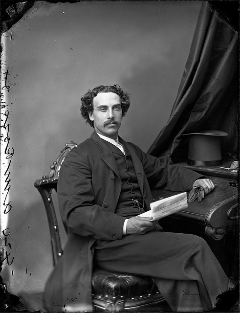 Mr. A. M. Ross, Ottawa, Canada, April 1868 - love the top hat resting on the writing desk.