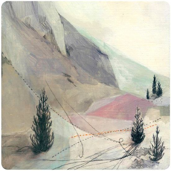 Danna Ray Artist transience nature Illustration Peachy print Wind Sky Mountain Pastel Paint Illustrator Design Style Etsy Art groundwork