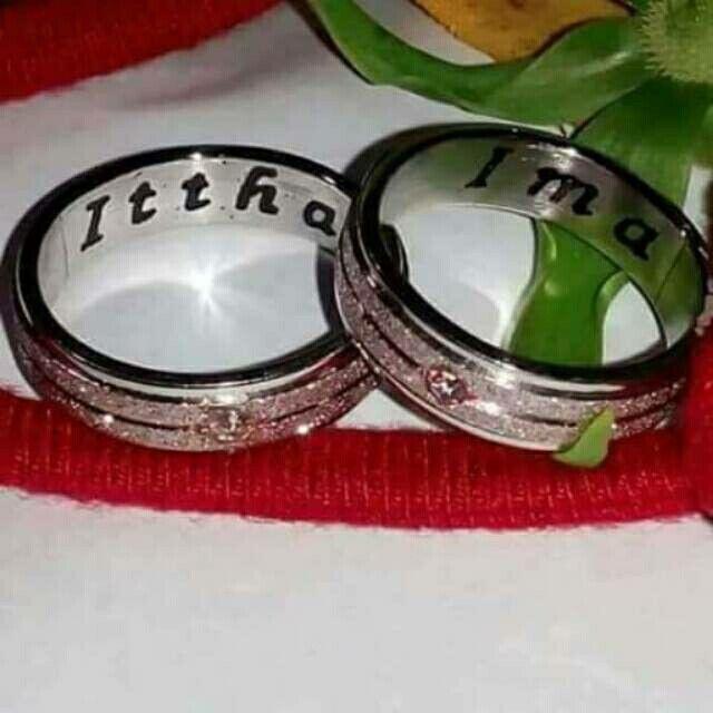 Temukan dan dapatkan Cincin Couple Sepasang Ukir nama bahan titanium cantik hanya Rp 360.000 di Shopee sekarang juga! http://shopee.co.id/shafa_asesoris/132951417 #ShopeeID