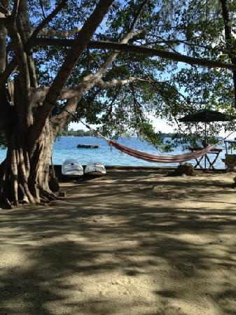 Tiger Islands Eco Resort & Village: two hammocks, paddle boards and several boats are available for activities.