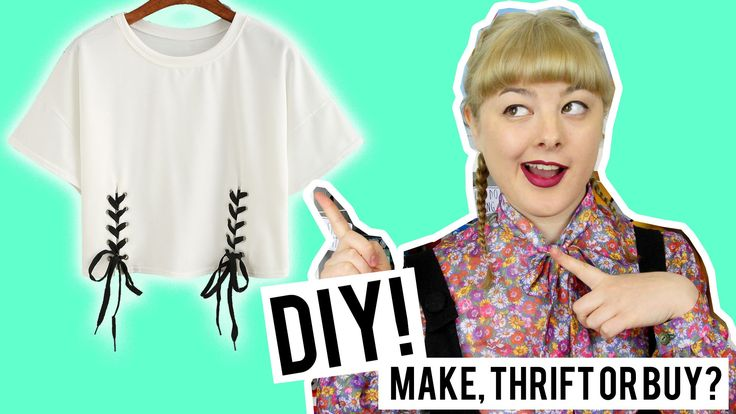 DIY Lace Up Top | Make Thrift Buy #40 I MUST get that eyelet kit! Seems like it could be useful for fastenings and accents on all sorts of stuff!