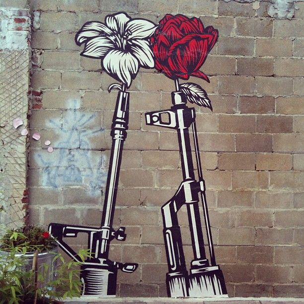 Flowers and Guns Graffiti | Street Art | Urban Art ...
