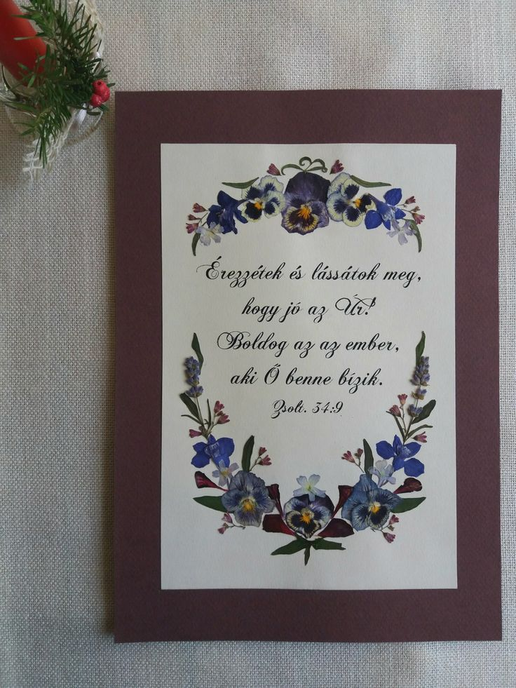 Pressed flower picture- Christmas gift