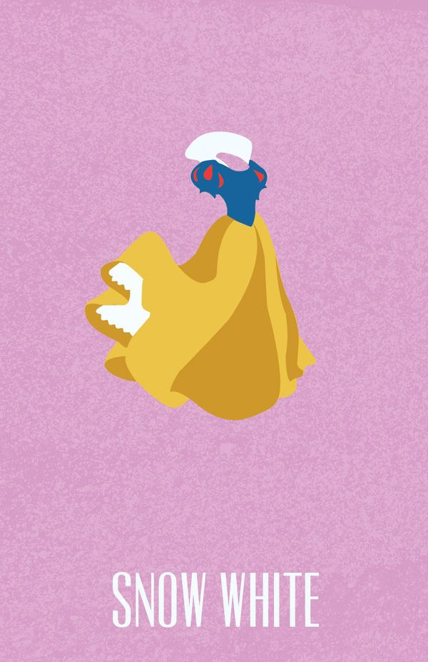Snow White in Snow White and the Seven Dwarfs (1937) - Minimal Disney Princesses Posters by Ryne Abraham