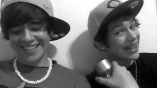 Austin Mahone and Alex Constancio - Lip Singing Friday by Rebecca black (bubblypeacee contest), via YouTube.